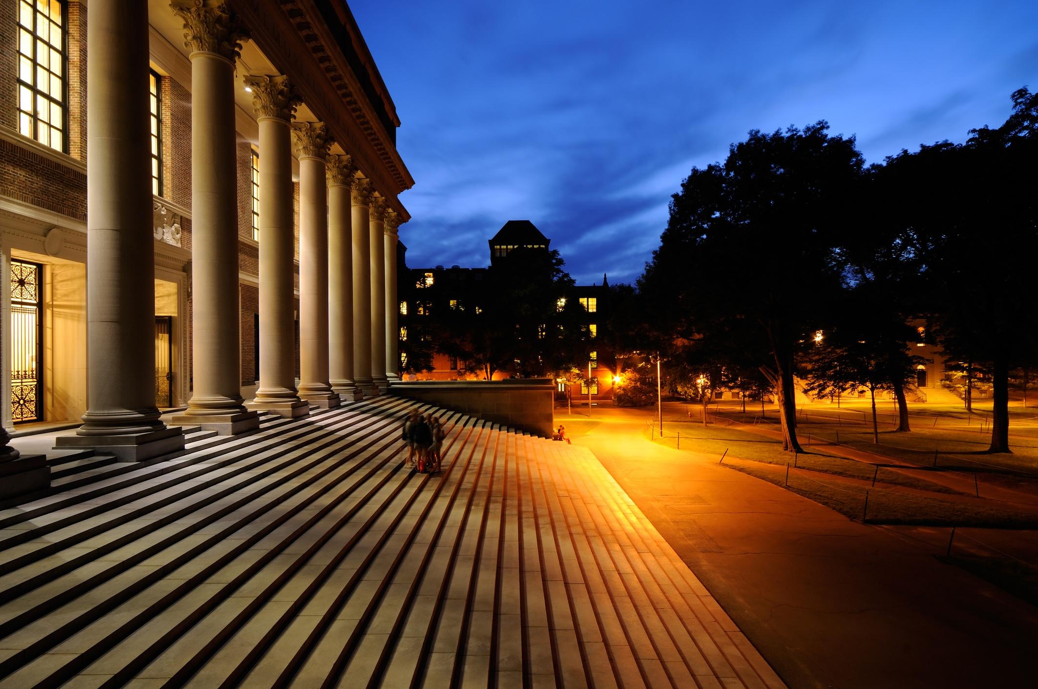 College Campus at Night
